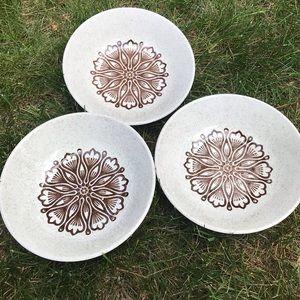 Vintage speckled ceramic bowls Ironstone Biltons